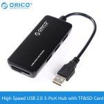 Bộ chia 4 cổng Hub USB 3-1(2.0) + Card ORICO H3TS-U2-BK