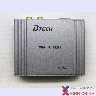 THIẾT BỊ TRUYỀN TÍN HIỆU VGA TỚI HDMI Cao Cấp DTECH (DT-7004)