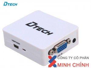 bộ thiết bị Dtech DT-6527 VGA to HDMI chuyển đổi 1080p HD đầu ra HD 3D hiệu ứng hình ảnh