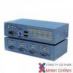 KVM Switch 4 port VGA USB and PS2 chính hãng DTECH DT-8041