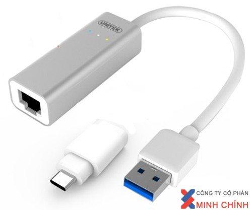 Cáp USB Type C to LAN Gigabit Ethernet Y-3464A