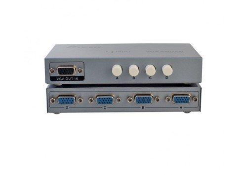 THIẾT BỊ CHIA TÍN HiỆU VGA 4-1 (4 vào 1 ra ) DTECH (DT-7034)