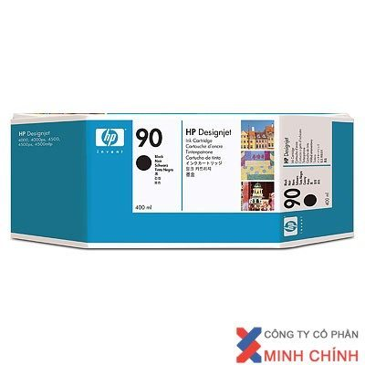 Mực in phun màu HP 90 400-ml Black DesignJet Ink Cartridge