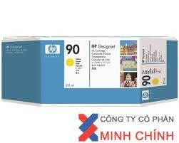 Mực in phun màu HP 90 400-ml Yellow DesignJet Ink Cartridge (C5065A)