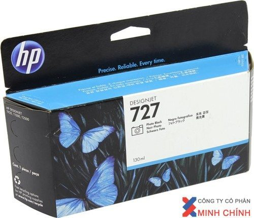 Mực in Phun màu HP 727 130-ml Gray DesignJet Ink Cartridge