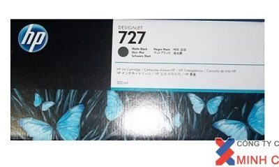 Mực in Phun màu HP 727 300-ml Matte Black DesignJet Ink Cartridge