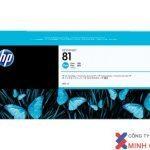 Mực in Phun màu HP 81 680-ml Cyan DesignJet Dye Ink Cartridge C4931A) – Màu xanh