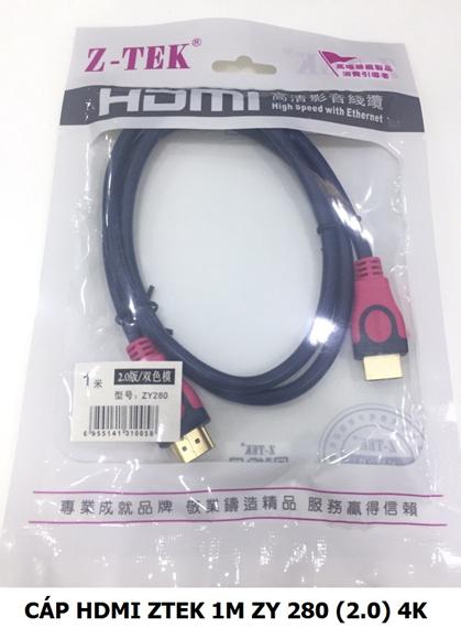 Cáp HDMI 2.0 1m Z-TEK ZY-280
