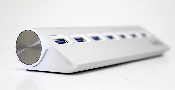 Bộ Chia USB 7Port 3.0 Kèm Nguồn Phụ UNITEK Y-3187