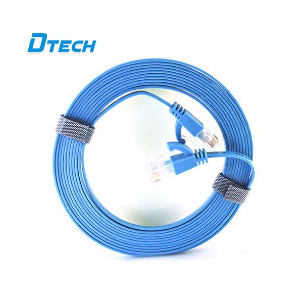 Cáp mạng dẹt 3m CAT6 Gigabit Dtech DT-67F30 chính hãng