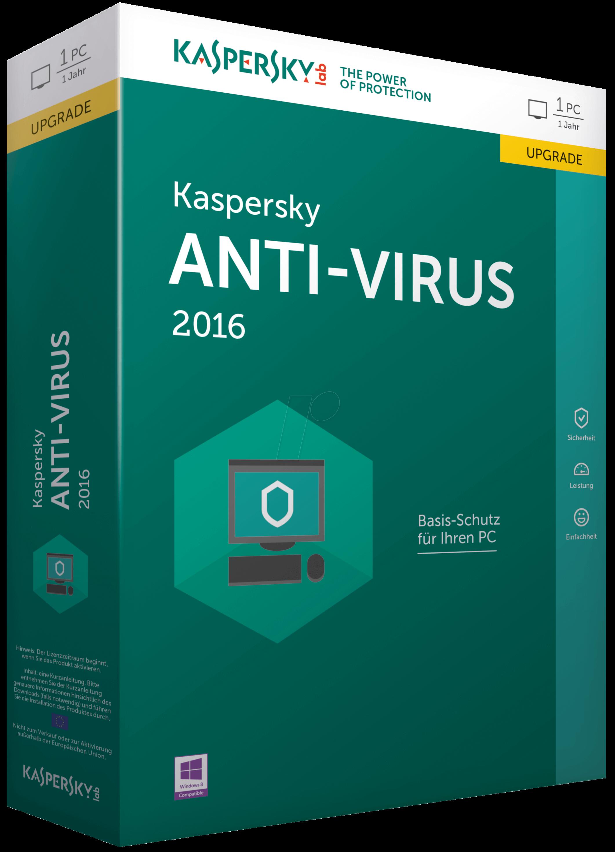 Phần mềm diệt virut ANTI-Virus Kaspersky 1PC/ 1 Năm (KAS )