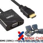 Cáp Micro HDMI + Mini HDMI + HDMI sang VGA + Audio UNITEK Y-6355