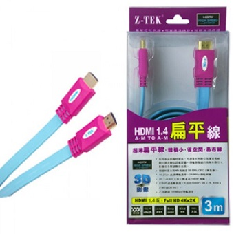 Cáp HDMI 3M Dẹp Chuẩn 1.4 Z-TEK (ZY-014)