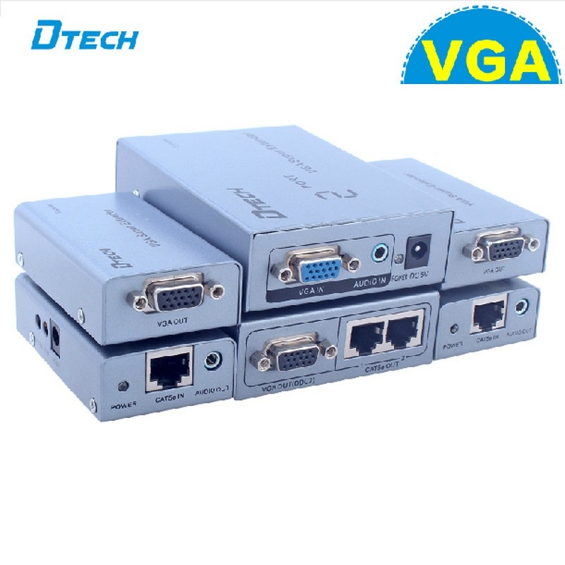 Bộ mở rộng tín hiệu VGA 300m 1 vào 2 ra DTECH ( DT-7035B)