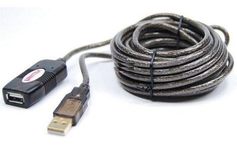 Cáp USB Nối Dài 2.0 5M UNITEK Y 250 Có IC