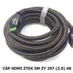 CÁP HDMI 2.0 DÀI 5M CHÍNH HÃNG Z-TEK ZY-297 HỖ TRỢ FULL HD 3D 4K*2K Cao Cấp