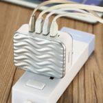 Cốc sạc 4 Cổng USB 5V 6.3A Chính hãng REMAX (Model RP- U41)