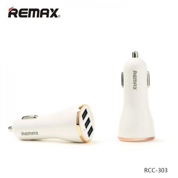 Remax Car Charger 3 USB RCC – 303