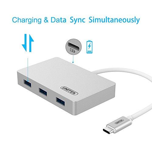 HUB USB3.0 USB-C 3-Port Hub kèm 1 cổng sạc TYPE UNITEK Y-3190