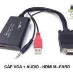 Chuyển đổi VGA + Audio sang HDMI M-Pard MD008