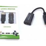 CÁP DISPLAYPORT -> HDMI 4K KINGMASTER (KY-D 253B)