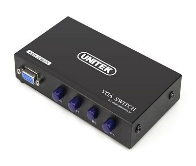 Bộ Chia Gộp VGA 4 PC vào 1 Màn Hình UNITEK (U-8705)