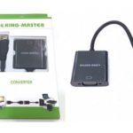 CÁP MINI HDMI -> VGA KINGMASTER (KY-H 122B)