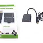 CÁP MINI HDMI -> VGA + AUDIO KINGMASTER (KY-H 125B)