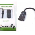 CÁP MINI DISPLAYPORT -> HDMI KINGMASTER (KY-M 361B)