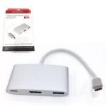 CÁP TYPE-C -> HDMI 4K + USB 3.0 (OT-9525)