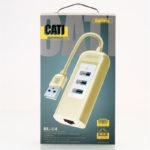 Cáp USB type C sang LAN + 3 port USB 3.0 REMAX RU U4
