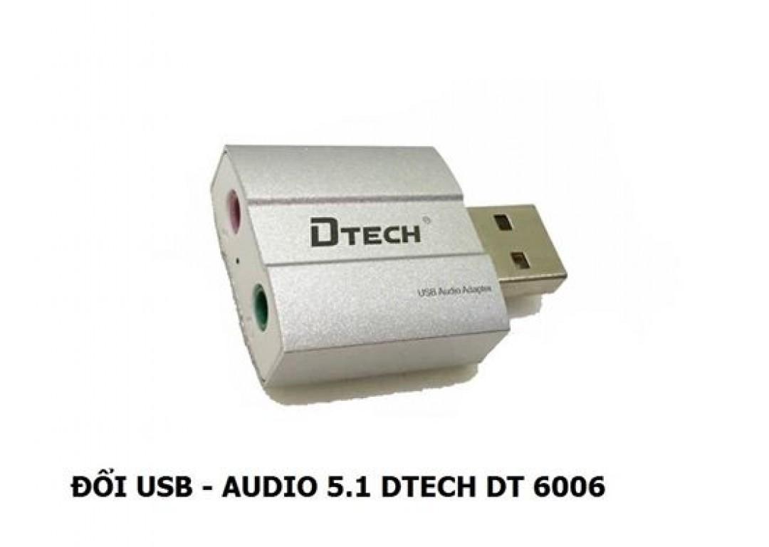 ĐẦU ĐỔI USB -> AUDIO 5.1 DTECH (DT – 6006)