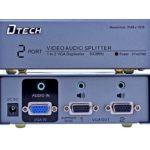 Bộ CHIA VGA 1 RA 2 + AUDIO 500MHZ DTECH (DT-AU7502)