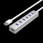Bộ chia USB 7 cổng 3.0 kèm nguồn chính hãng UNITEK Y3090