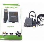 CÁP HDMI -> VGA + AUDIO KINGMASTER (KY-H 124B)