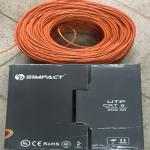 Cáp mạng Cat6 UTP SIMPACT 305m S3641 (Cam)