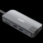 Cáp Chuyển Đổi Type C sang 1P HDMI + 1P VGA + 1P LAN Gigabit +1P USB 3.0 + Chage USB C
