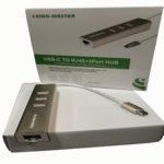 Cáp Chuyển đổi Type C sang LAN + 3port USB (2.0) Kingmaster KM007