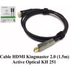 Cáp HDMI 2.0/4k 1,5M ACTIVE OPTICAL KINGMASTER (KH251)