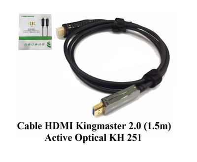 Cáp HDMI 2.0/4k 1,5M ACTIVE OPTICAL KINGMASTER (KH251)