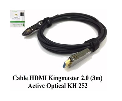 Cáp HDMI 2.0/4k 3M ACTIVE OPTICAL KINGMASTER (KH252)