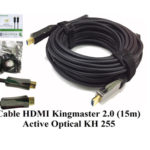 Cáp HDMI 2.0/4k 15M ACTIVE OPTICAL KINGMASTER (KH255)