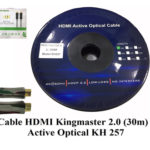 Cáp HDMI 2.0/4k 30M ACTIVE OPTICAL KINGMASTER (KH257)