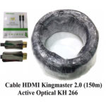 Cáp HDMI 2.0/4k 150M ACTIVE OPTICAL KINGMASTER (KH266)