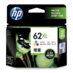 Mực in phun 3 màu hiệu suất cao HP 62XL (C2P07AA)