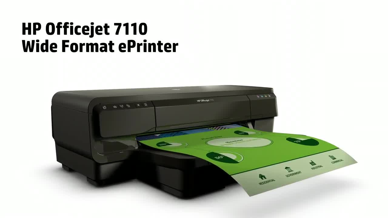 Máy in Phun màu HP Officejet Wide Format ePrint 7110 (CR768A)