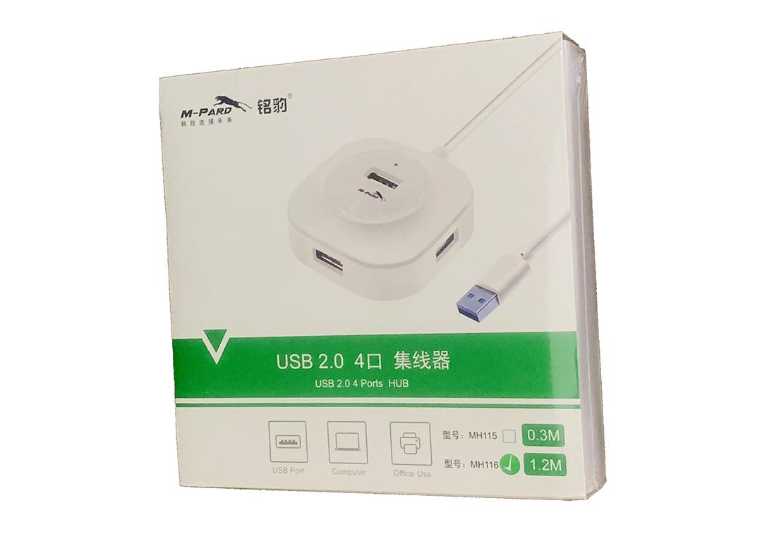 HUB USB 4-1 2.0 1.2M  M-Pard (MH 116)trắng/ đen