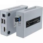 Hộp nối dài HDMI (20km) ->Cáp quang + USB DTECH (DT 7052)