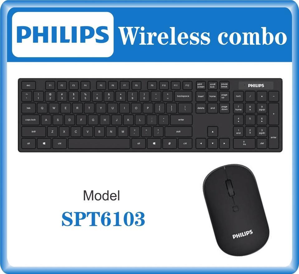 Combo bàn phím và chuột không dây Philips SPT6103
