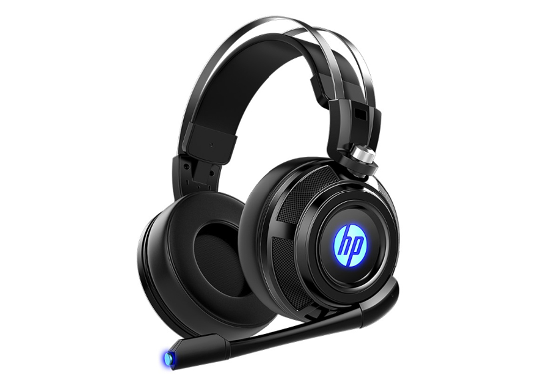 Tai nghe Headset  HP H200 đen  LED (USB+3.5mm)